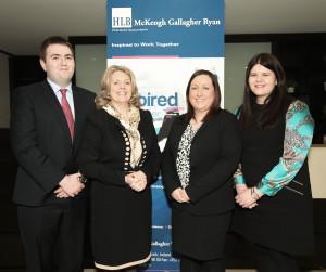 Conor McElhinney, Mary McKeogh, Sinéad Mansell, Sarah Kelly