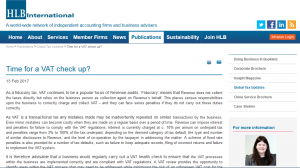 Sarah Kelly's VAT Healthcheck Article